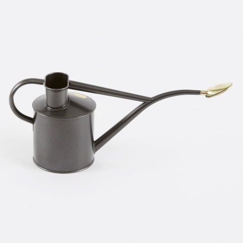 1 Litre Metal Indoor Watering Can - Graphite