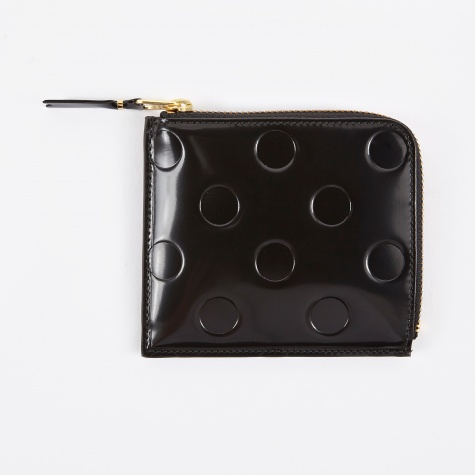 Comme des Garcons Wallet Polka Dots Embossed (SA3100NE) - Black