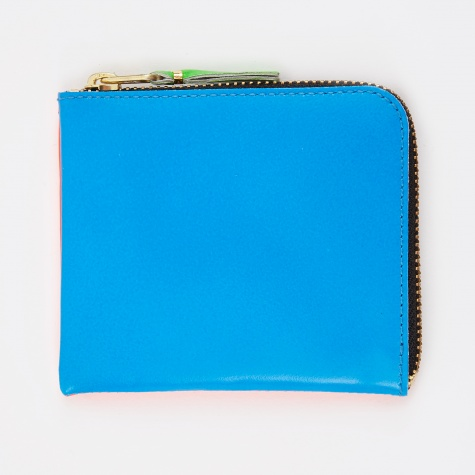 Comme Des Garcons Wallet Super Fluo S (SA3100SF)  - Orange/Blue