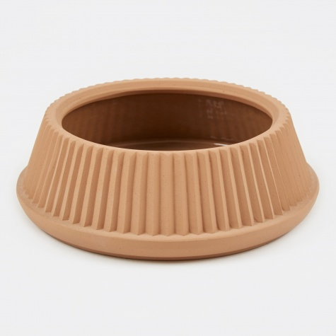 Pleated Dish Planter - Earthenware