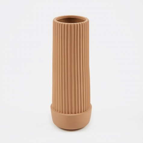 Pleated Vase - Earthenware