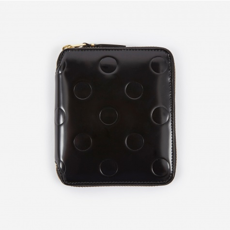 Comme des Garcons Polka Dot Embossed Wallet M (SA2100NE) - Black