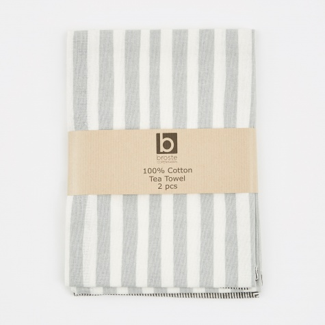 Tea Towel 'Stripe' Cotton - High-Rise