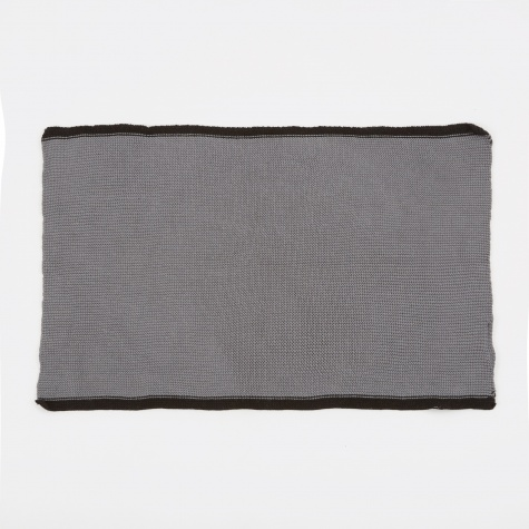 Tea Towel 'Knit' Cotton - Grey/Stripe Black