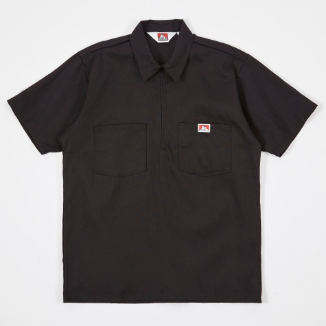 Half Zip Work Shirt - Black