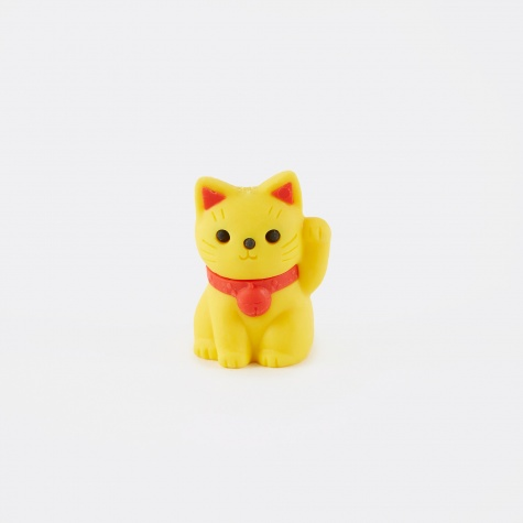 Eraser - Lucky Cat Yellow