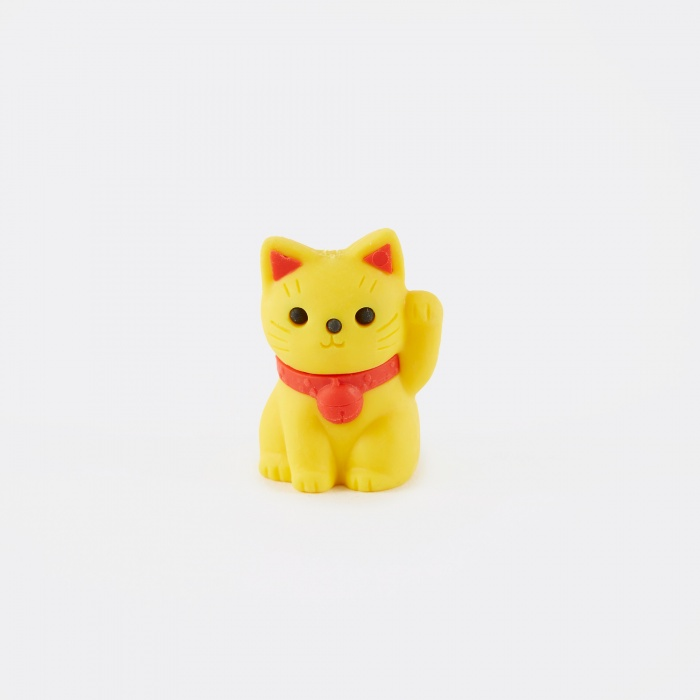 IWAKO Eraser - Lucky Cat Yellow (Image 1)