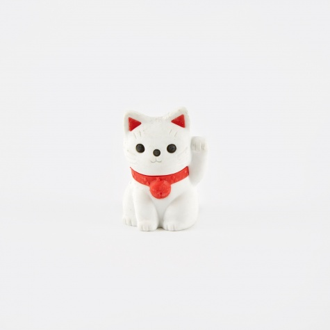 Eraser - Lucky Cat White