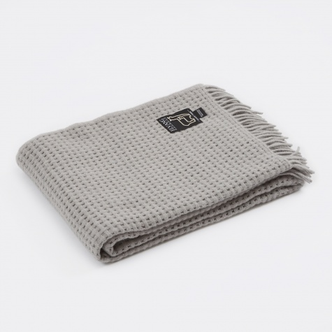 Basket Throw - Light Grey