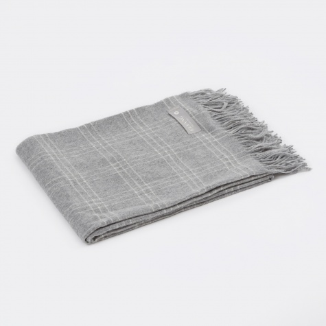 Superior Throw - Light Grey / White