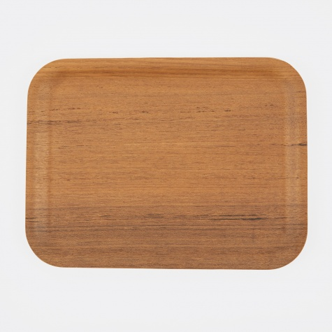 Non Slip Rectangular Tray Teak - 320x240mm