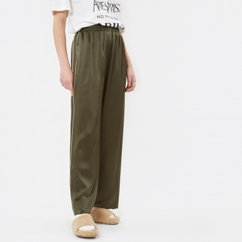 Piping Silk Trousers - Khaki
