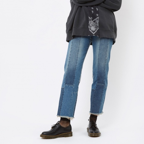 Panelled Denim Jeans - Denim