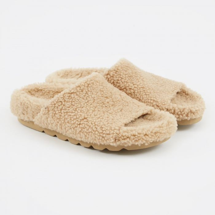 Stand Alone Lamb Slipper - Beige (Image 1)