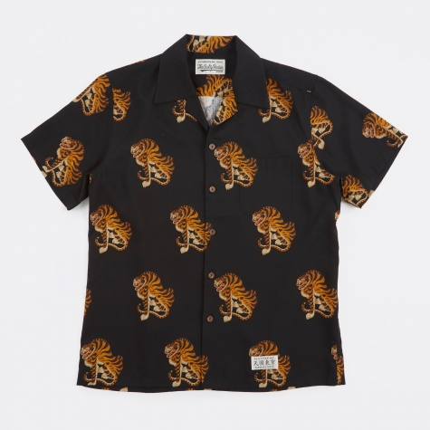 Tigers S/S Hawaiian Shirt - Black