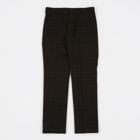 Blurred Check Skate Trousers - Black/White Check