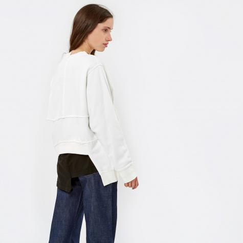 PAM Perks & Mini Complex Split Sweat Multi - Off White