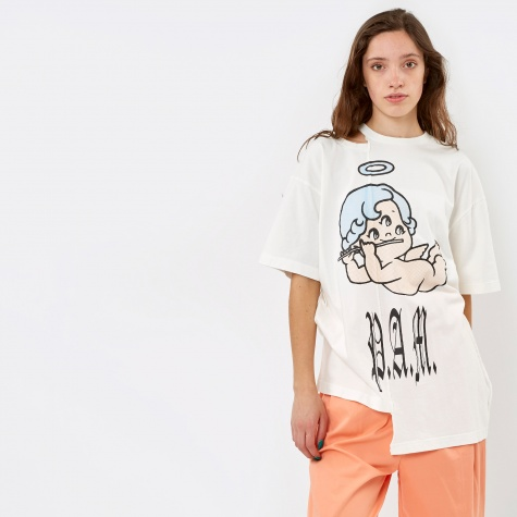PAM Perks & Mini Eye See You Split S/S T-Shirt - Off White