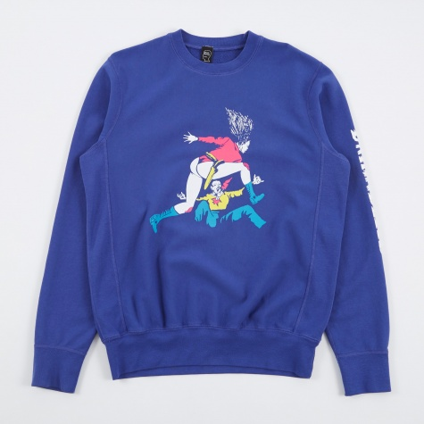 Records Revenger Crew Sweatshirt - Blueberry