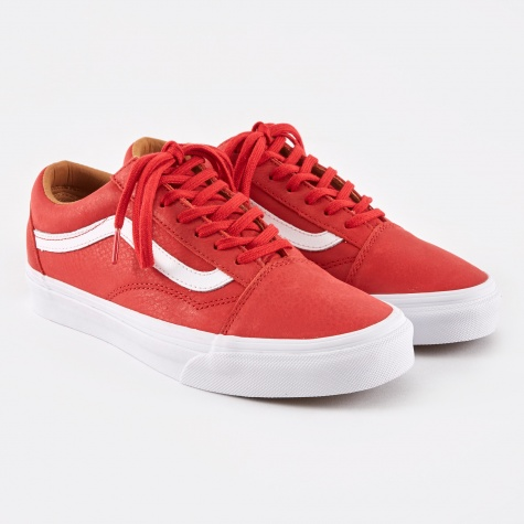 Old Skool Premium Leather - Racing Red