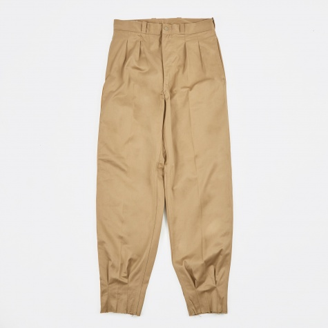 French Pants - Khaki/Gold Trim
