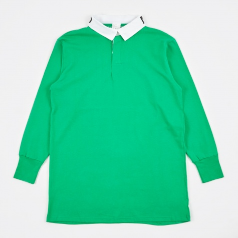 Oversized Rugby Long Shirt - Green