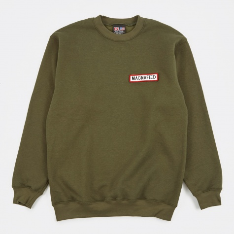 Name Tape Sweatshirt - Forest Green
