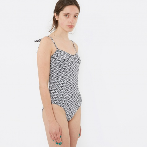 Doris Swimsuit - Black/White Zig Zag