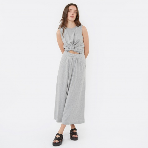 Front Twist Muscle Dress - Grey