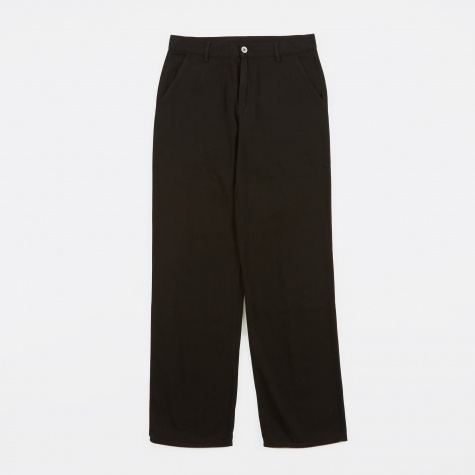 Denim Chino Trousers - Overdyed Black Denim