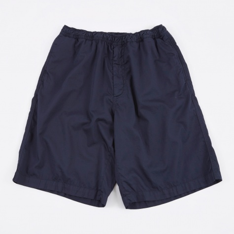Draped Shorts - Navy Washed Satin