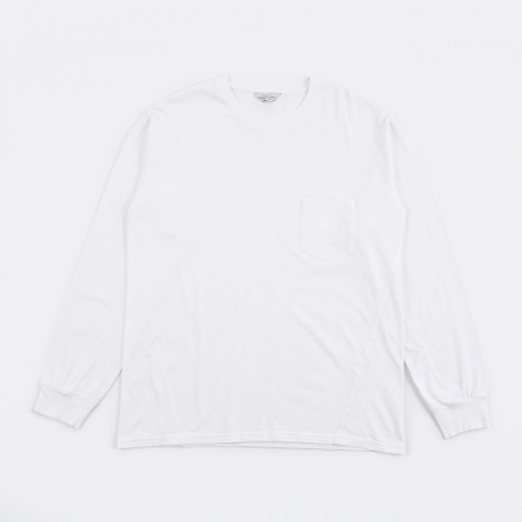 Longsleeve Pocket Tee - White