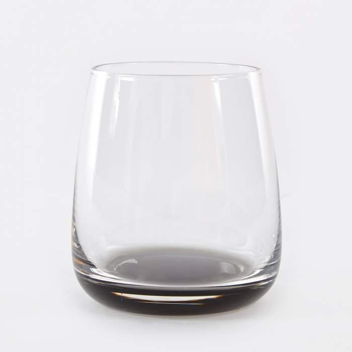 Broste Tumbler 'Smoke' Glass 35cl - Clear / Grey (Image 1)