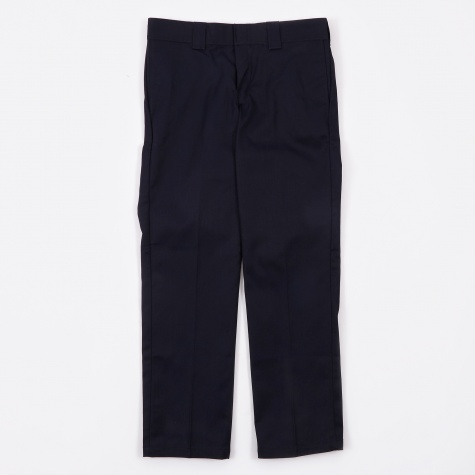 Slim Straight Work Trousers - Dark Navy