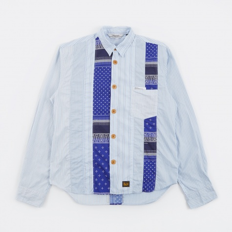 Patchwork Shirt - Blue