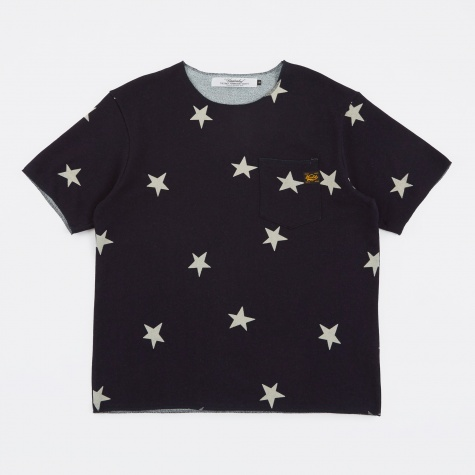 Star Cut Off T-Shirt - Indigo