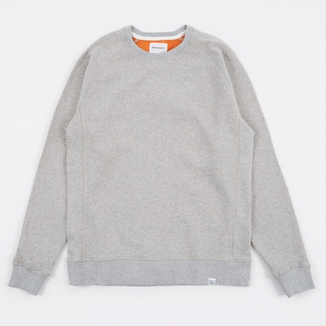 Ketel Double Face Sweatshirt - Light Grey Melange