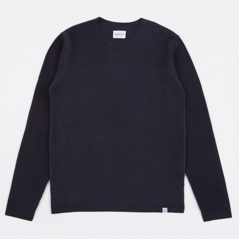 Sigfred Garment Dye Merino Knit - Navy