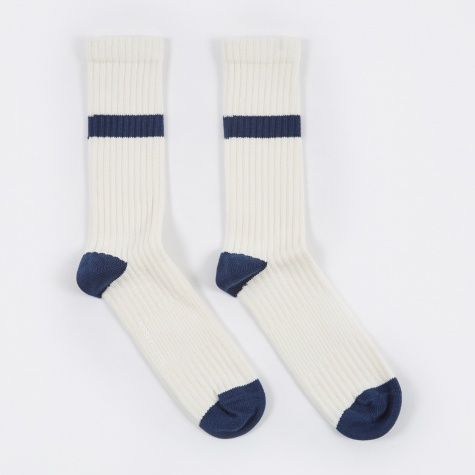 Bjarki Industrial Stripe Socks - Kit White