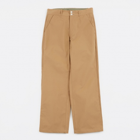Pintuck Trousers - Beige