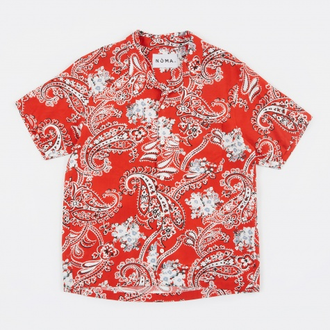 Paisley SS Shirt - Red