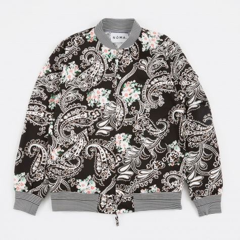 Paisley Bomber Jacket - Black