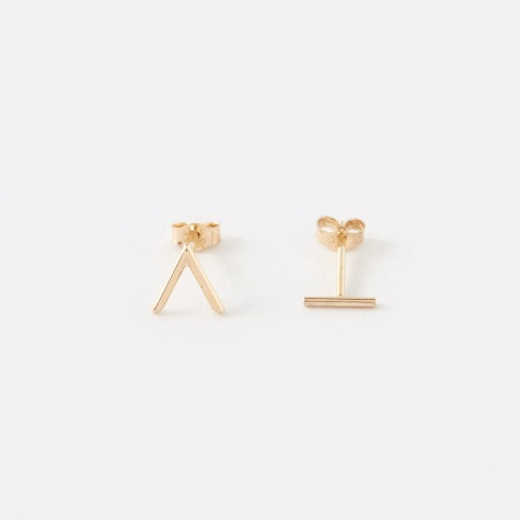 Angle Earrings - Gold