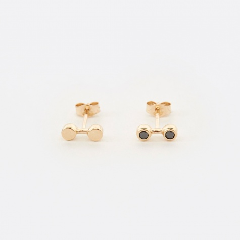 Duo Earrings - Gold/Black Diamond