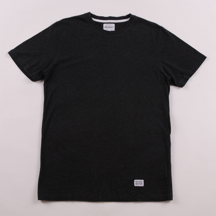 Norse Projects Niels Boucle T Shirt - Dark Grey (Image 1)