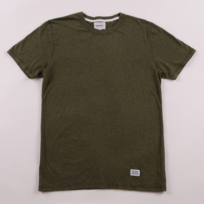 Norse Projects Niels Boucle T Shirt - Green (Image 1)