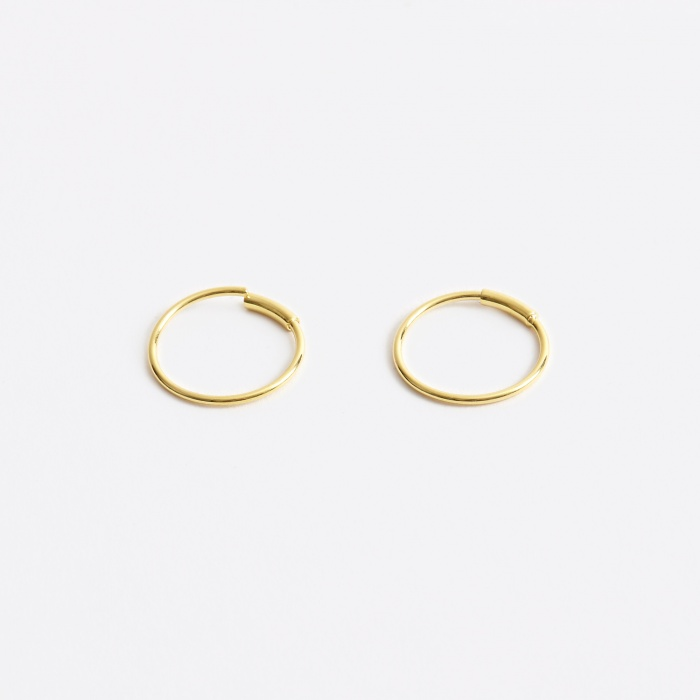 Maria Black S Basic Hoop Earring - 14K Gold Plated (Image 1)