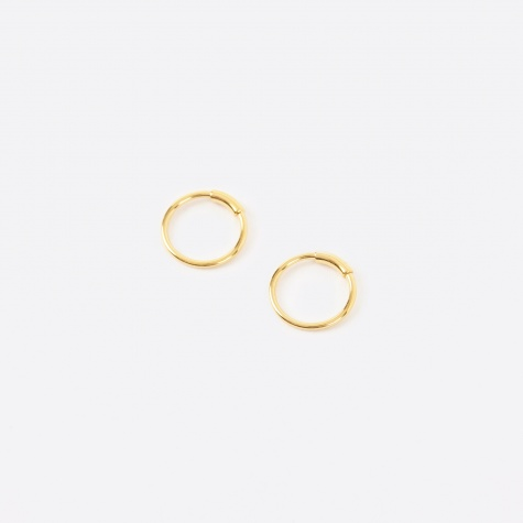 Basic Pair Hoop Earrings XS - 14K Gold Plated