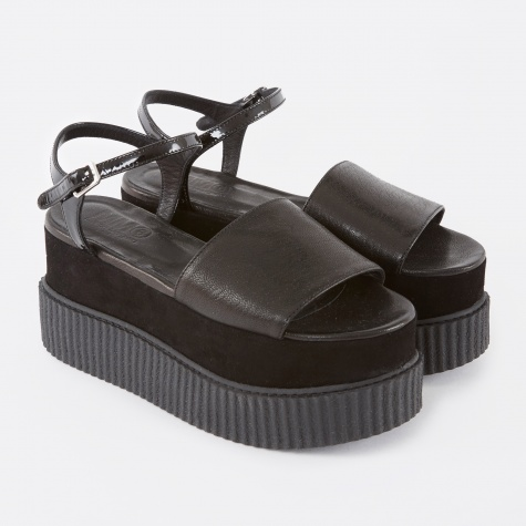 MM6 Platform Sandal - Black
