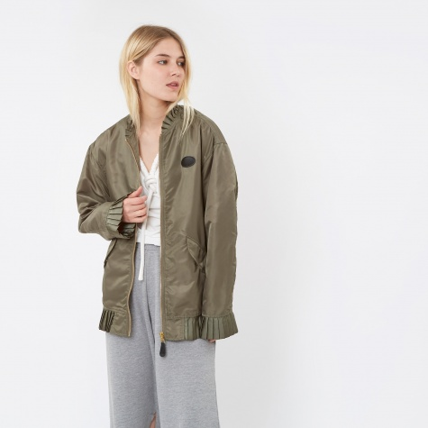 MM6 Pleated Bomber Jacket - Olive